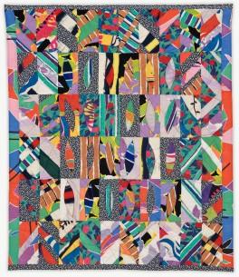'Eva in NYC,' a memorial quilt designed by Lori Mason