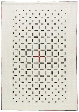 'Genevieve's Red Cross,' a memorial quilt designed by Lori Mason