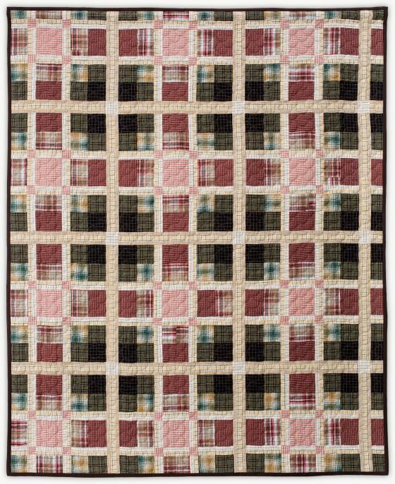 'MacLachlan Tartan', a designer quilt designed by Lori Mason