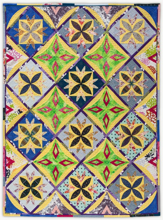 'Amanda's Flowers', a memorial quilt by Lori Mason
