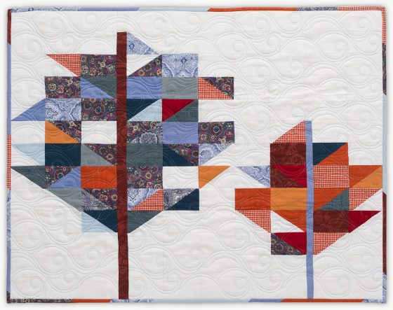 'Sam's Trees', a memorial quilt designed by Lori Mason