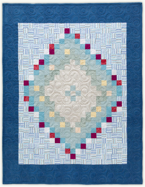 'Steve's Silver Orb', a memorial quilt designed by Lori Mason