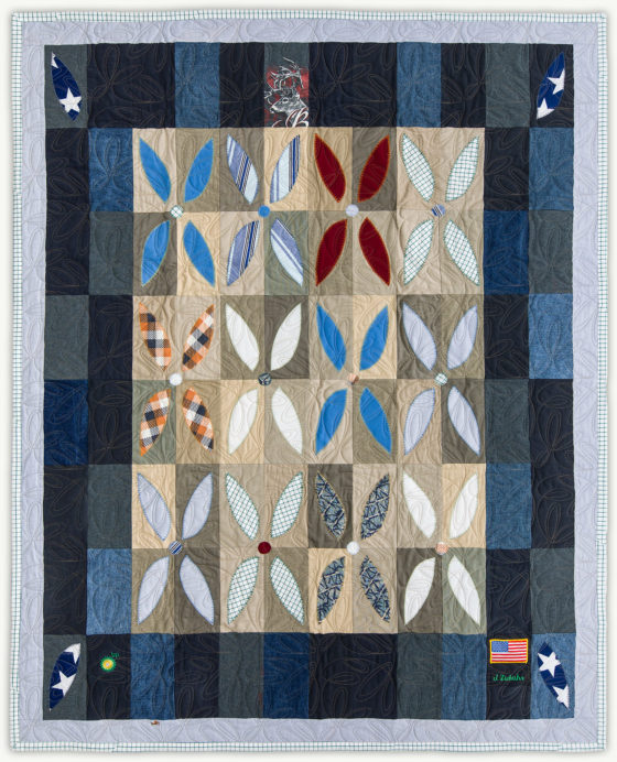 'James' Flower Garden', a memorial quilt designed by Lori Mason