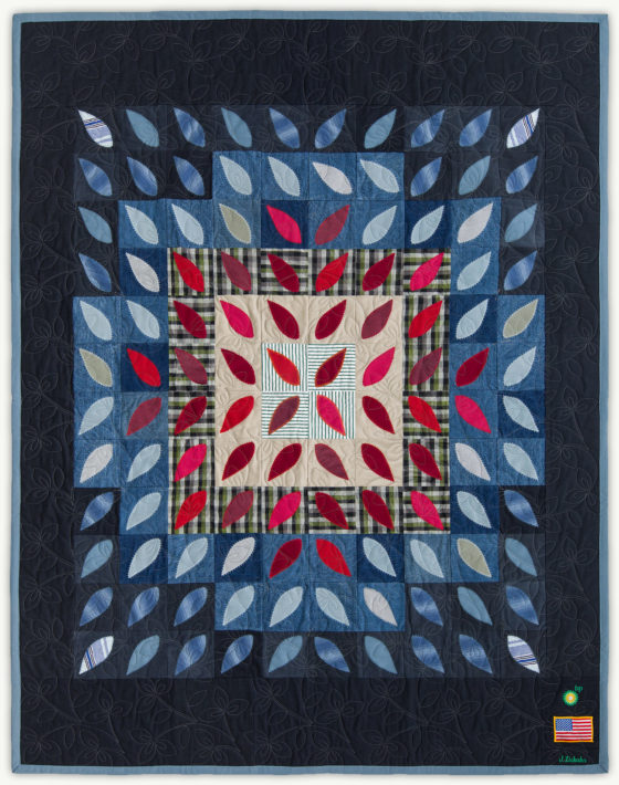 'James' Petals', a memorial quilt designed by Lori Mason