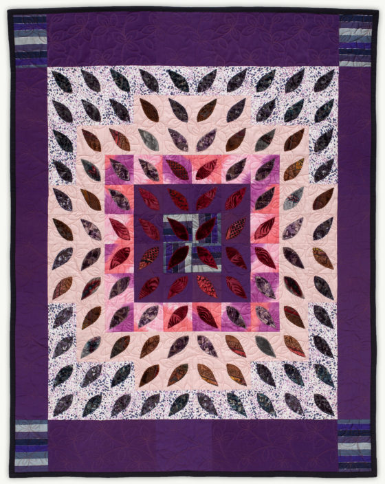 'Barbara's Starburst', a memorial quilt designed by Lori Mason