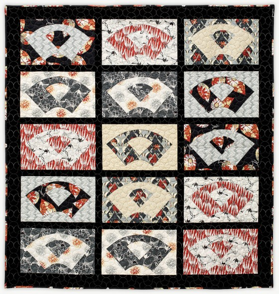 'Kyoto Fans,' a quilt from Lori Mason's Designer Collection
