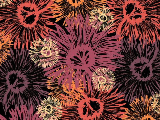 Shasta Tossed, part of the Shasta Collection in Summer Blaze from Lori Mason Design