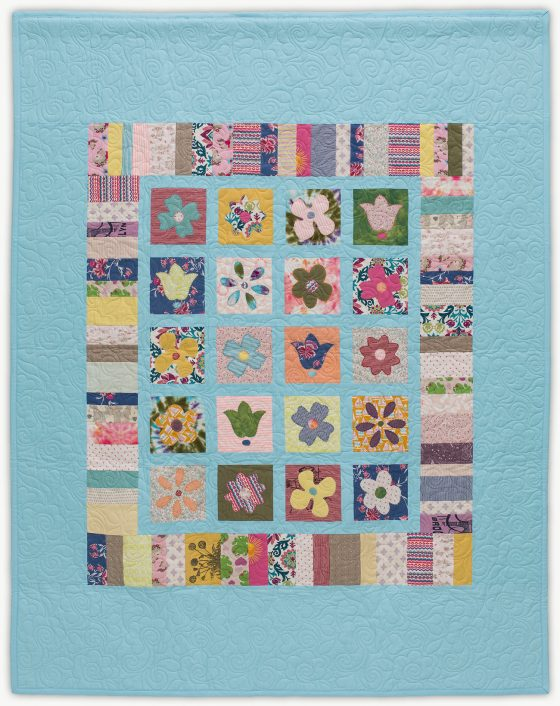 'Sorrel's Flower Patch', a memorial quilt designed by Lori Mason