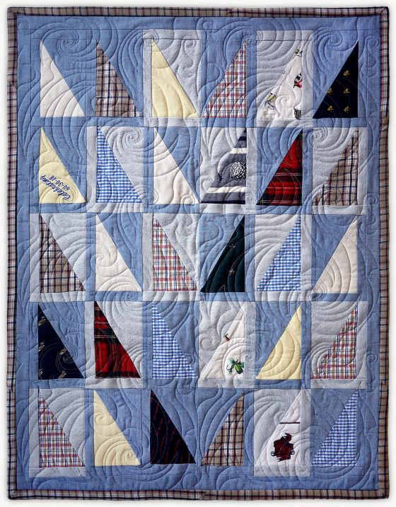 'Jim's Sails', a memorial quilt designed by Lori Mason