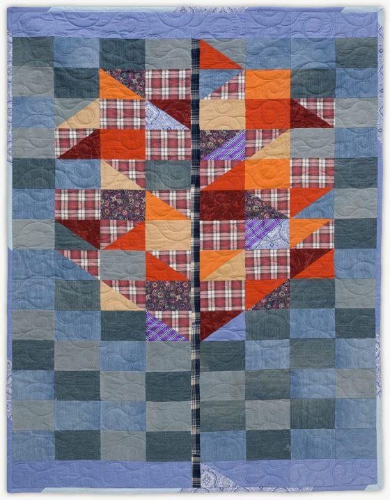 'Sam's Tree 1', a memorial quilt designed by Lori Mason