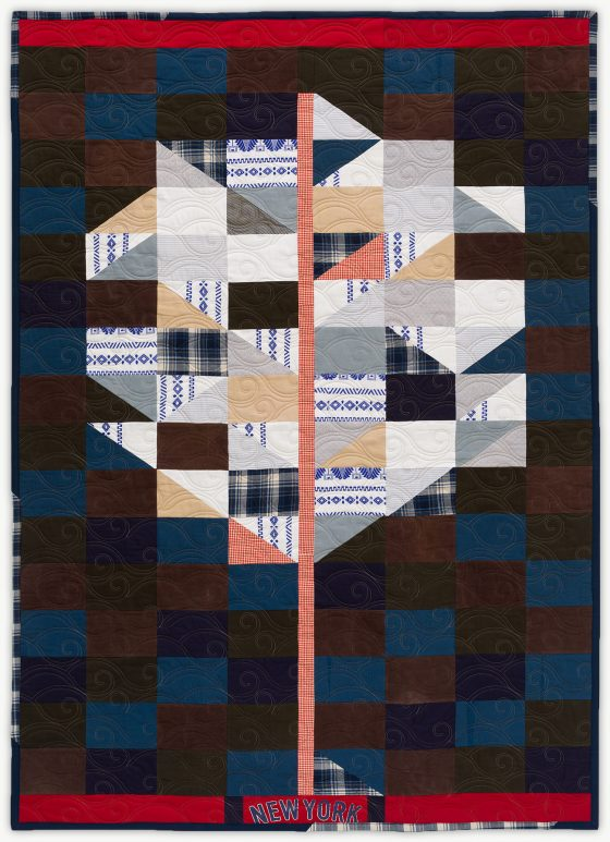 'Sam's Tree II', a memorial quilt designed by Lori Mason