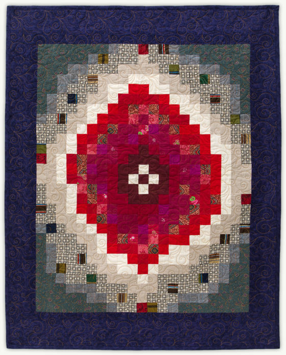 'Bhree's Red Nova', a memorial quilt designed by Lori Mason