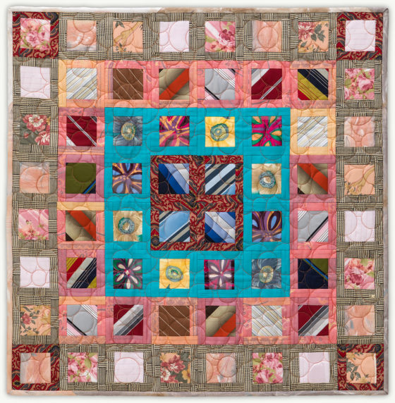 'Clyde&Margaret's Squaredance', a memorial quilt designed by Lori Mason