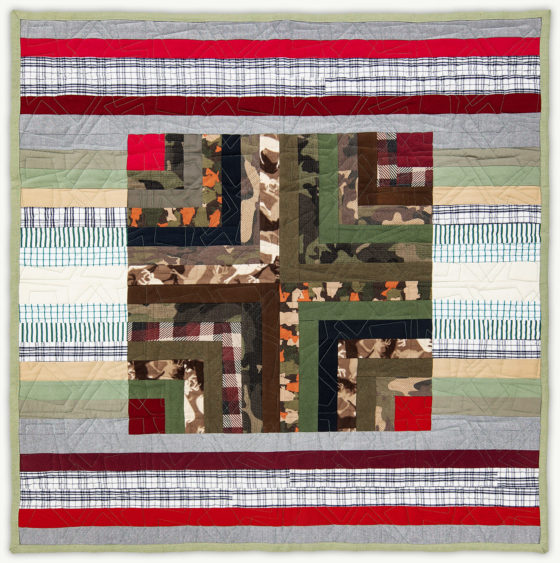 'James' Log Cabin', a memorial quilt designed by Lori Mason