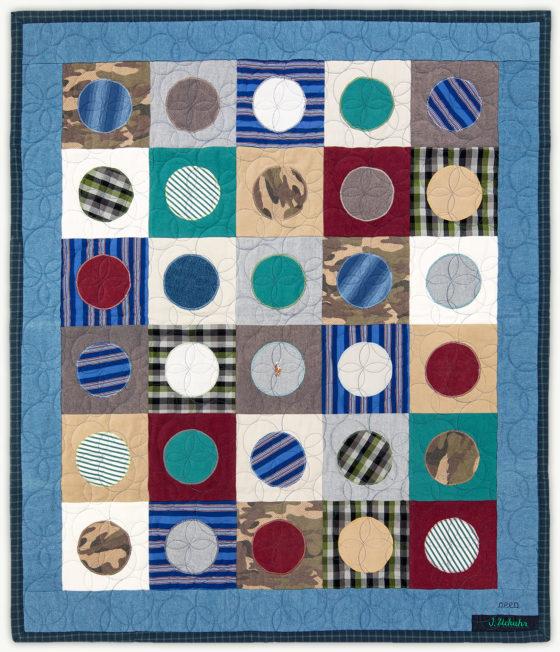 'Luke's Penny', a memorial quilt designed by Lori Mason