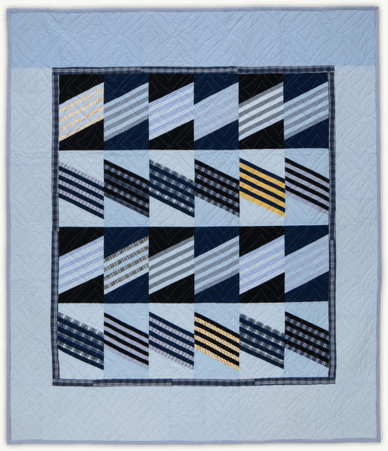 'Al's Dress Blues', a memorial quilt designed by Lori Mason