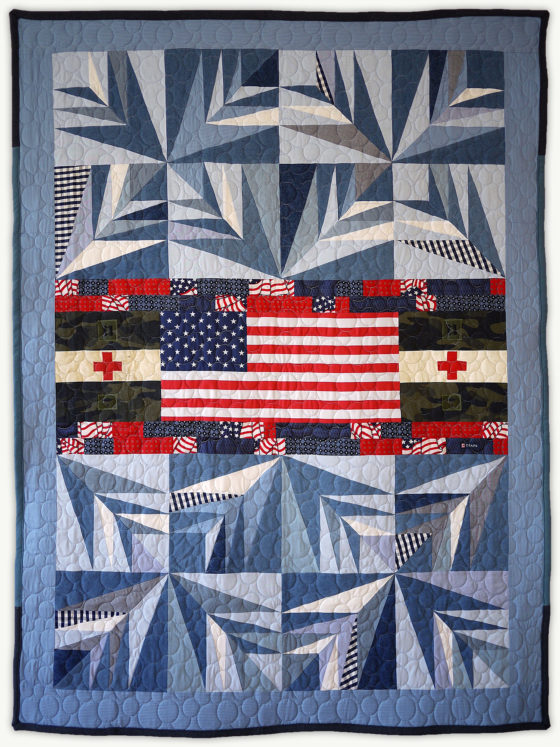 'Jack's Palm', a memorial quilt designed by Lori Mason