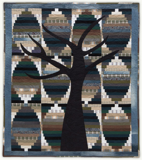 'John'sTree', a memorial quilt designed by Lori Mason
