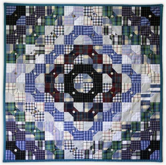 'Grandpa's Chemistry', a memorial quilt designed by Lori Mason