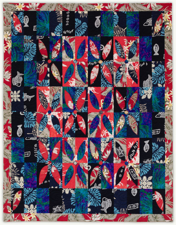 'Tonia's Hawaiian Garden', a memorial quilt designed by Lori Mason