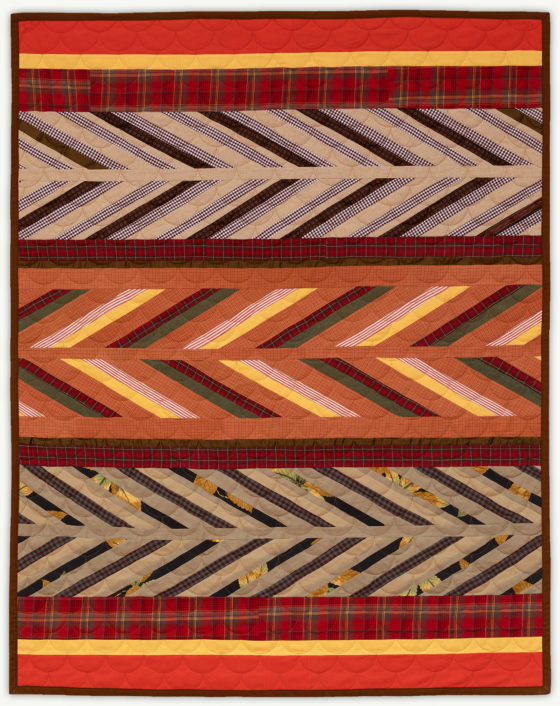 'Tony's Chevrons', a memorial quilt designed by Lori Mason