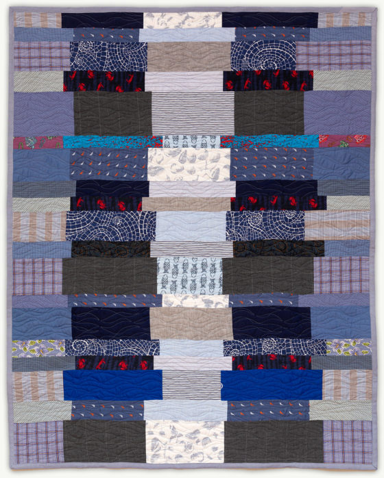 'Tony's Library', a memorial quilt designed by Lori Mason