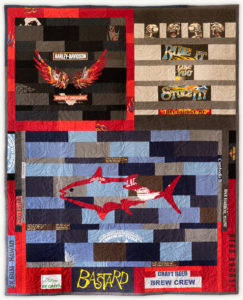 'Dan the Man', a memorial quilt designed by Lori Mason