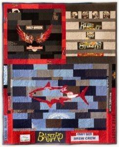'Dan the Man', a memorial quilt designed by Lori Mason