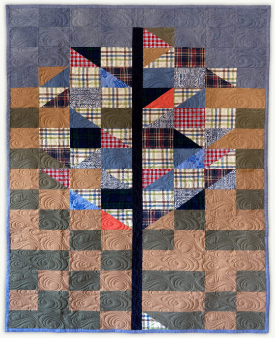 'Rich's-Tree-1', a memorial quilt designed by Lori Mason