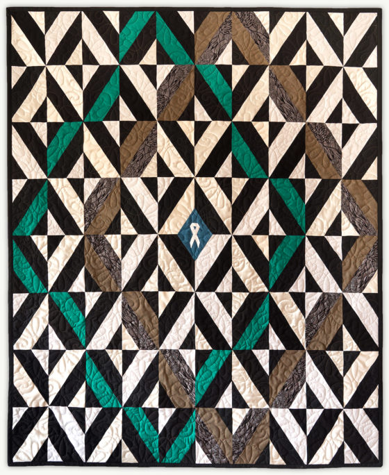 'Justin's Grid 1', a memorial quilt designed by Lori Mason