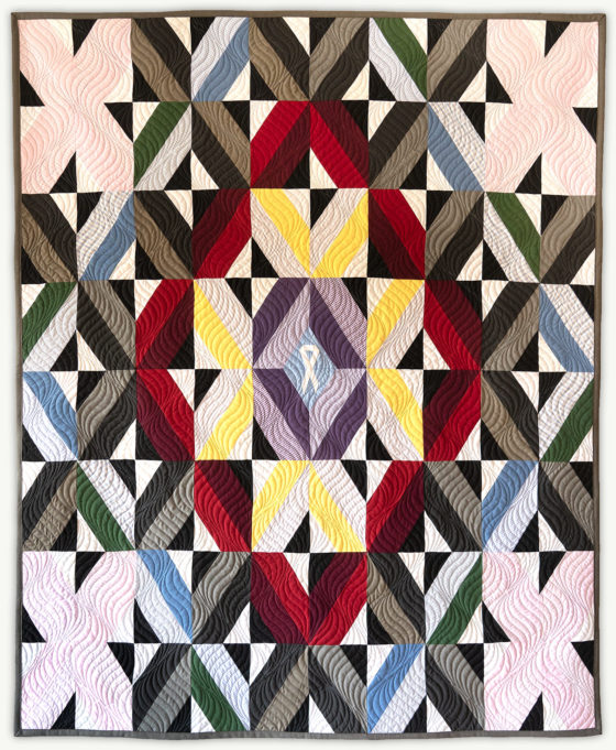 'Justin's Grid 2', a memorial quilt designed by Lori Mason