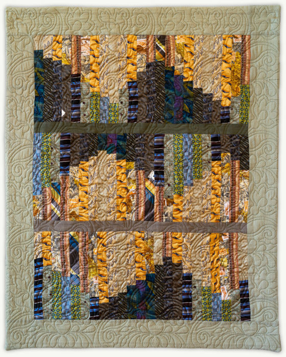 'Tom's Improv', a memorial quilt designed by Lori Mason