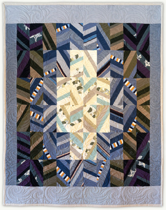 'Tom's Soliloquy', a memorial quilt designed by Lori Mason