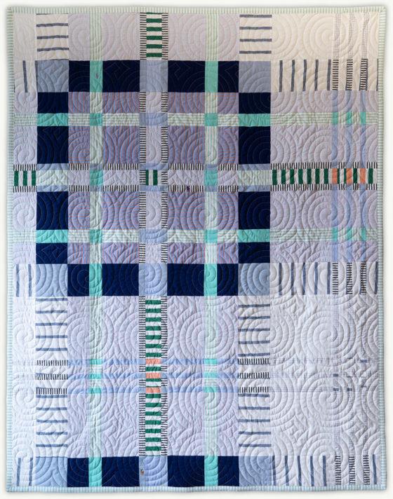 'Chip's Tartan 1', a memorial quilt designed by Lori Mason