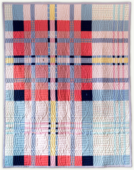 'Chip's Tartan 2', a memorial quilt designed by Lori Mason