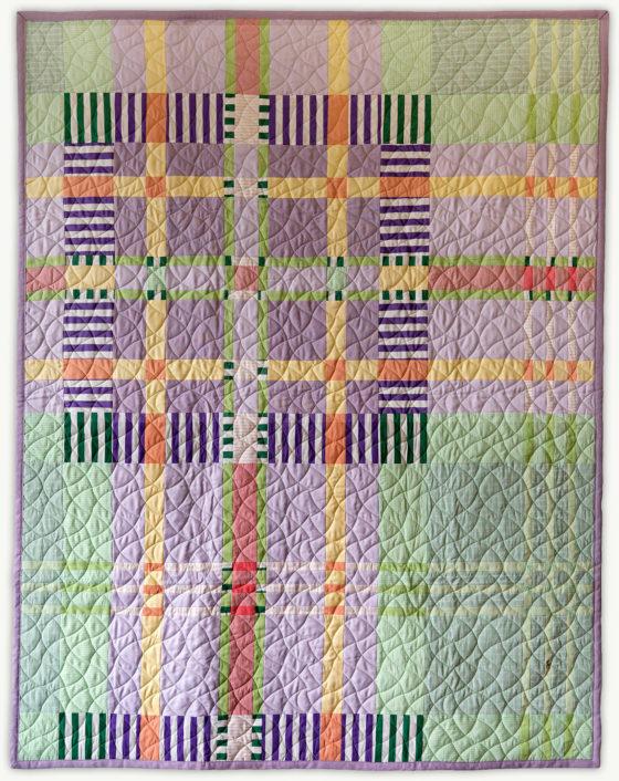 'Chip's Tartan 3', a memorial quilt designed by Lori Mason