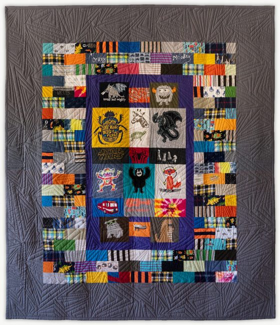 'Jason's Mighty Creatures ', a special event quilt designed by Lori Mason