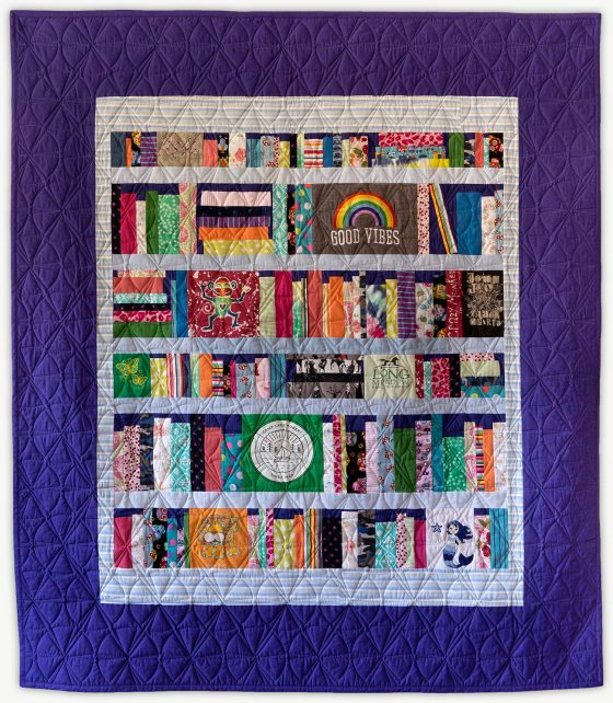 'Layla's Books', a special event quilt designed by Lori Mason
